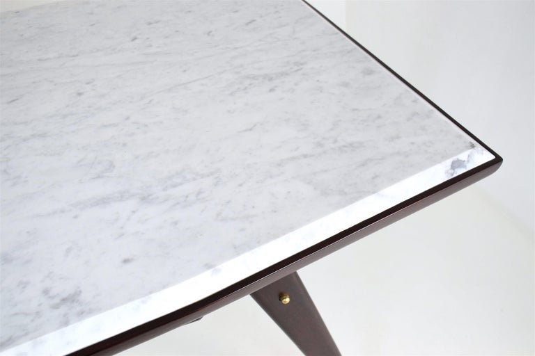 Italian Marble Midcentury Dining Table, 1950s For Sale 8