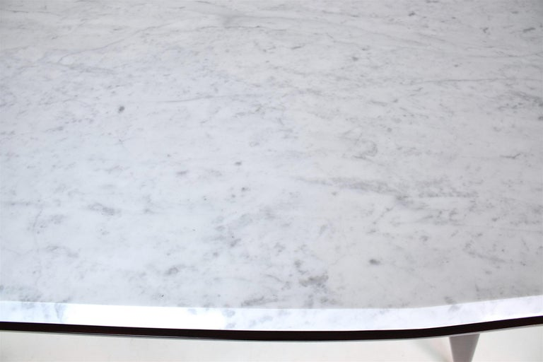 Italian Marble Midcentury Dining Table, 1950s For Sale 9