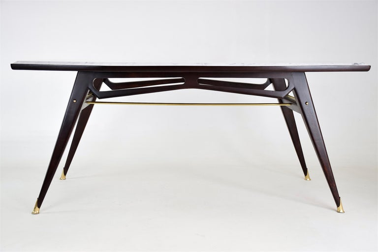 20th Century Italian Marble Midcentury Dining Table, 1950s For Sale