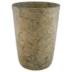 Italian Marble Minimalist Tapered Vase
