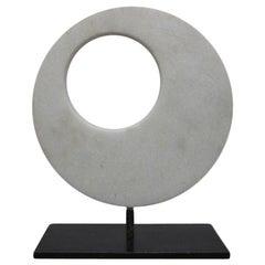 Italian Marble Sculpture on Iron Base