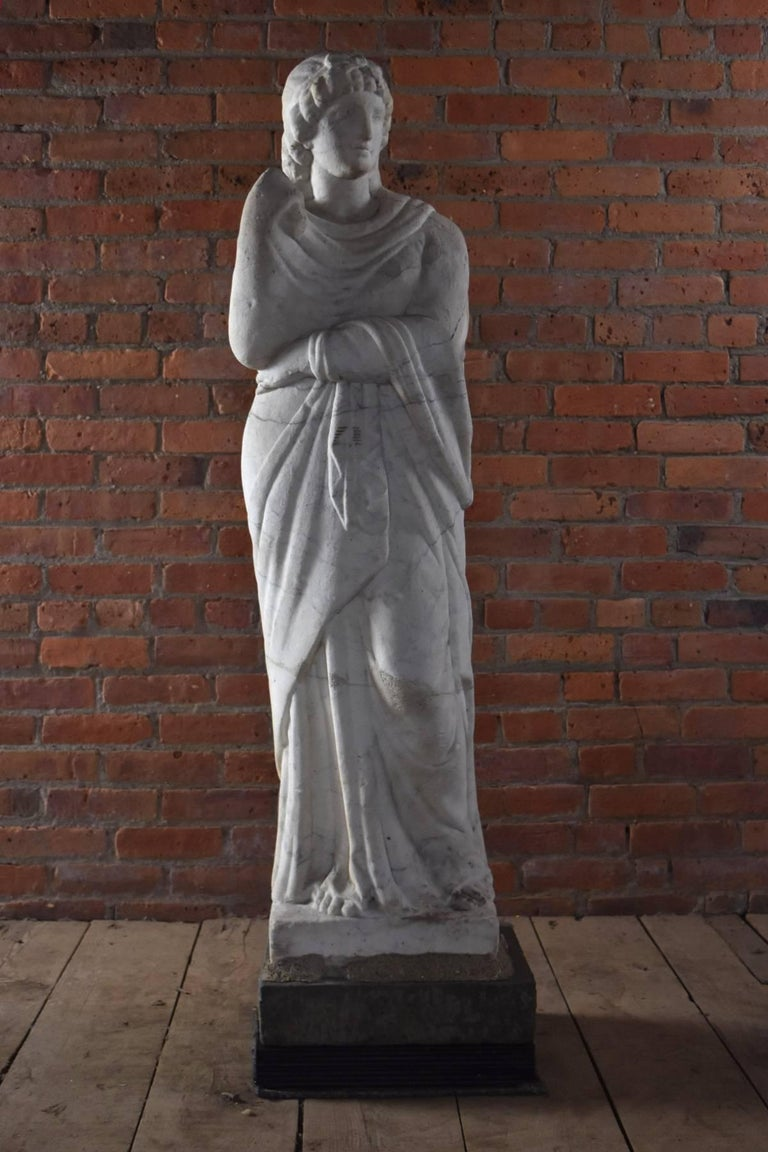 Italian Marble Statue of Livia or Pudicity, 19th Century after the Antique  For Sale 2