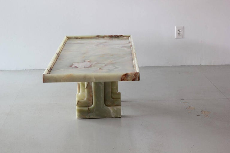 Italian Marble Table In Good Condition For Sale In Los Angeles, CA