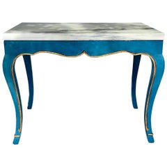 Italian Marble-Top Cocktail Table in the Louis XV Style Having Hoof Feet