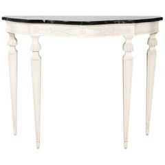 Italian Marble-Top Console Table