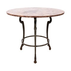 Italian Marble-Top Gueridon Table
