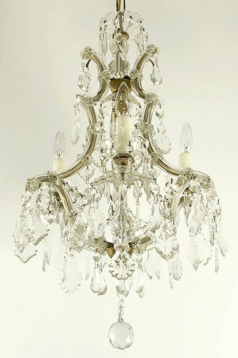 Italian Maria Theresa Four-Light Chandelier (17