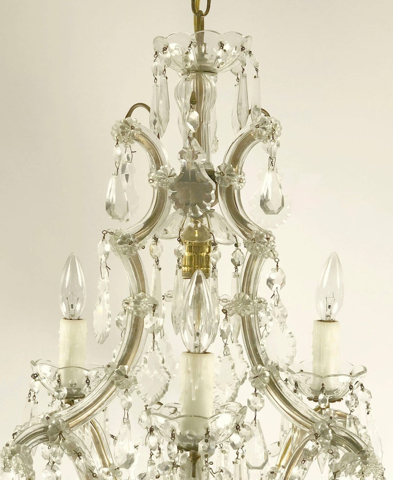 20th Century Italian Maria Theresa Four-Light Chandelier (17