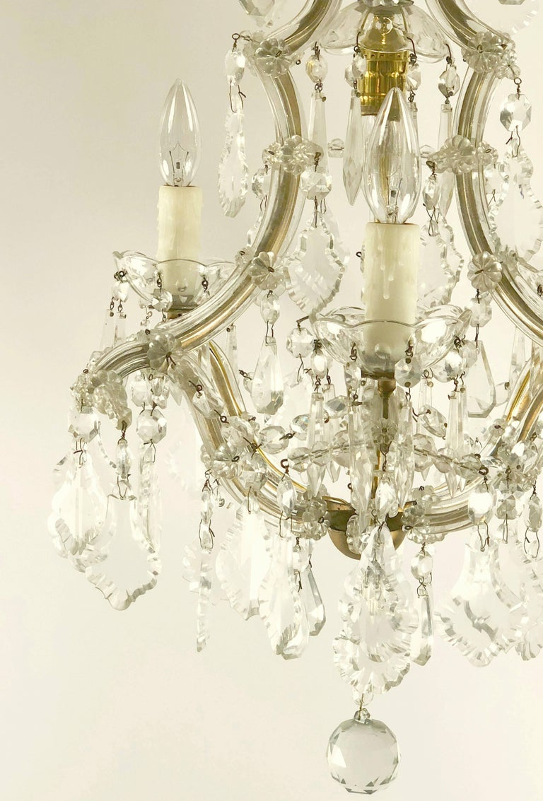 Metal Italian Maria Theresa Four-Light Chandelier (17