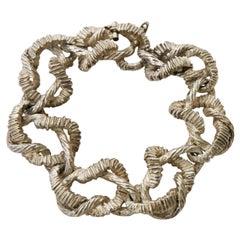 Italian Marked Sterling Silver Link Bracelet Vintage