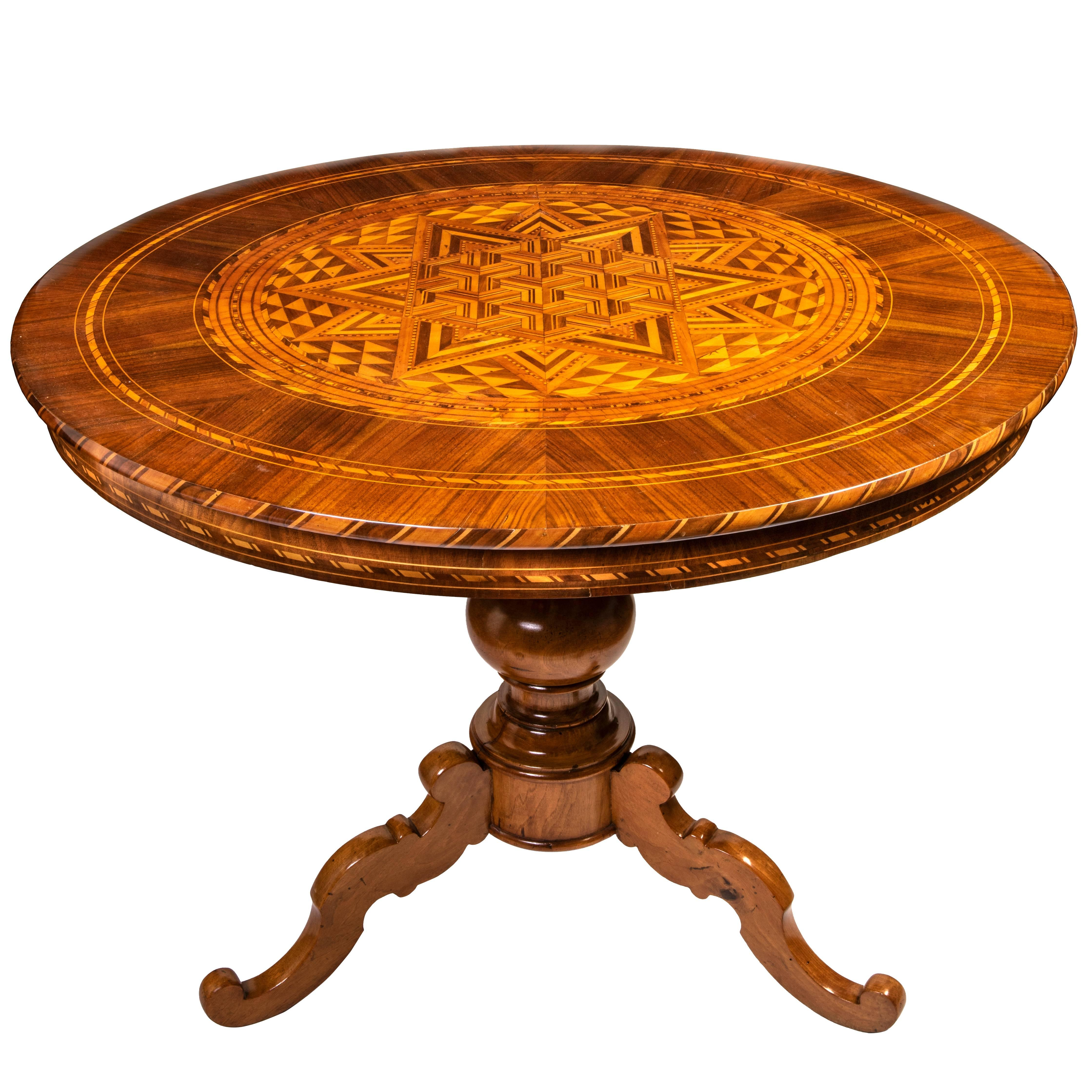 Groovy Antique 19Th Century Italian Inlay Marquetry Grand Center Hall Table Cjindustries Chair Design For Home Cjindustriesco