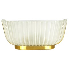 Italian Metal, Brass and Molded Glass 1950s Sconce