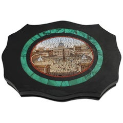 Italian Micromosaic Paperweight with a View of St Peter's Square, Rome