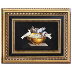 "Italian Micromosaic Plaque of the ""Doves of Pliny"", Vatican Workshop"