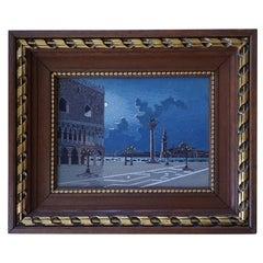 Italian Micromosaic Plaque of Venice