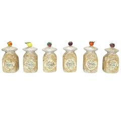 Italian Mid-1800s Decorated Venetian Glass Jars