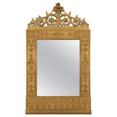 Italian Mid-18th Century Neoclassicism Giltwood Mirror