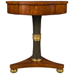 Italian Mid 18th Century Neoclassicism Cherry, Mecca and Polychrome Table