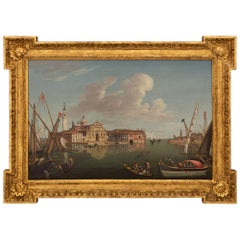 Italian Mid 18th Century Oil on Canvas Painting of Venice