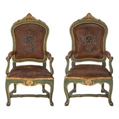 Italian Mid 18th Century Roman Armchairs