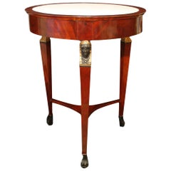 Italian Mid-19th Century Empire St. Circular Mahogany Center Table