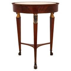Italian Mid-19th Century Empire St. Circular Mahogany Center Table