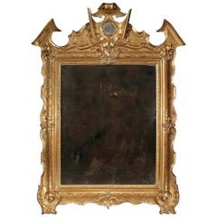 Italian Mid-19th Century Giltwood Mirror from Naples