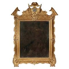 Italian Mid-19th Century Giltwood Mirror from Naples