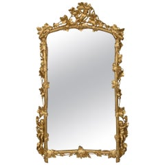 Italian Mid-19th Century Louis XV Style Giltwood Mirror