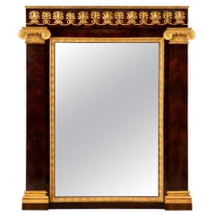 Italian Mid-19th Century Neoclassical Style Rosewood and Giltwood Mirror