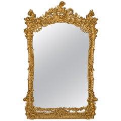 Italian Mid-19th Century Roccoco St. Giltwood Mirror