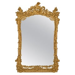 Italian Mid 19th Century Roccoco St. Giltwood Mirror