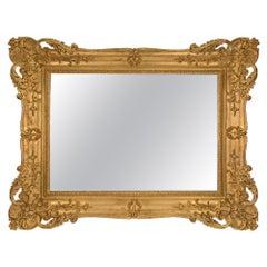 Italian Mid-19th Century Venetian Rectangular Mirror