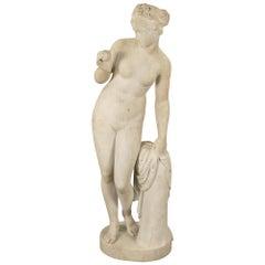 Italian Mid-19th Century White Carrara Marble Statue of Venus