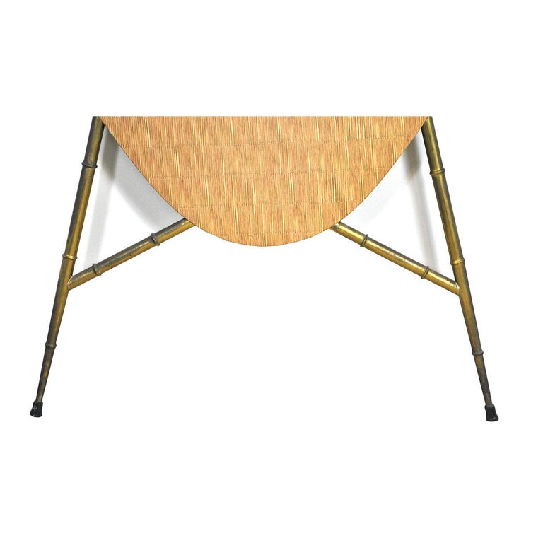 Italian Midcentury 1960s Consolle in Brass and Wood For Sale 5