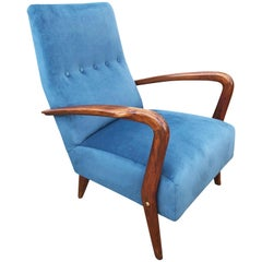 Italian Midcentury Armchair in the Manner of Gio Ponti
