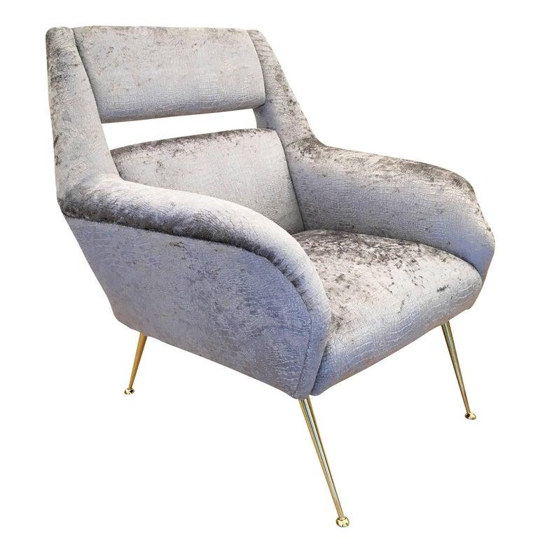 Italian Midcentury Armchair in the Style of Gio Ponti
