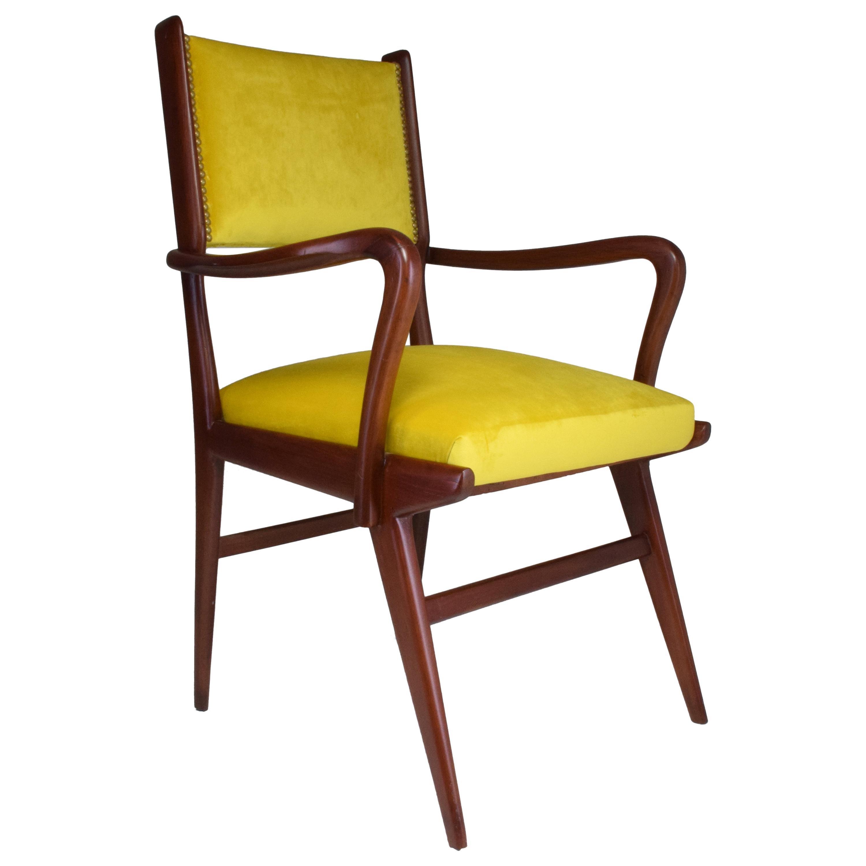 Italian Midcentury Beechwood Armchair, 1950s