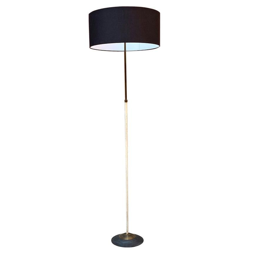Italian Mid-Century Brass and Metal Floor Lamp by Stilnovo, 1950s