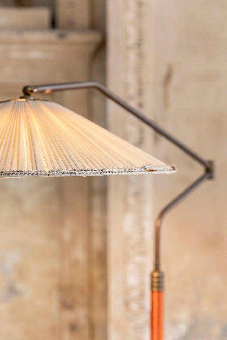 Italian Mid-Century Brass Floor Lamp 13