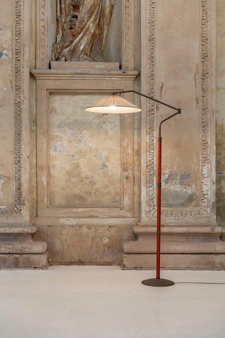 Mid-Century Modern Italian Mid-Century Brass Floor Lamp
