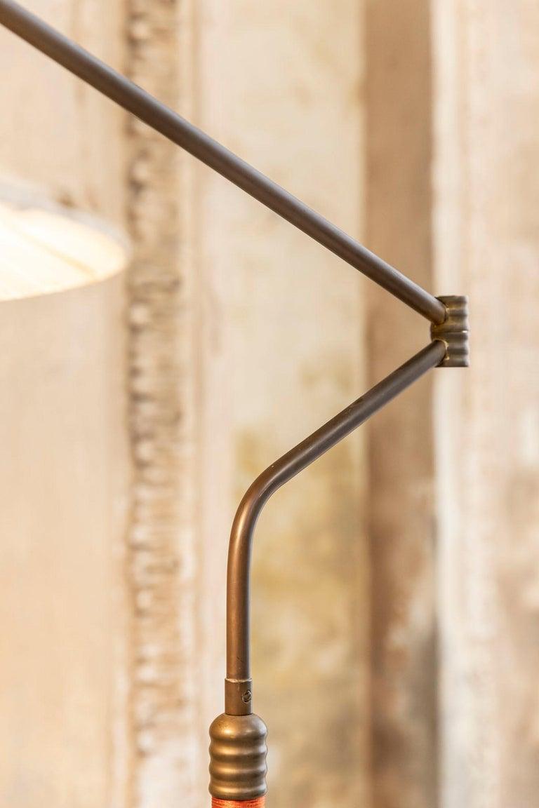 Italian Mid-Century Brass Floor Lamp 1