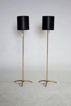 Italian Mid-Century Brass Floor Lamps