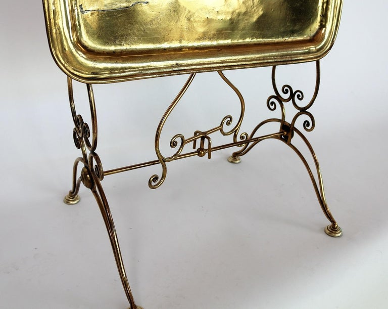 Mid-20th Century Italian Midcentury Brass Side Table or Tray Table, 1950s For Sale