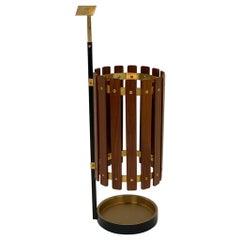 Italian Mid Century Brass Structure Umbrella Stand