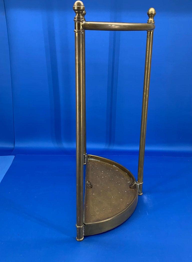Italian Mid-Century Modern Brass Umbrella Stand For Sale 5