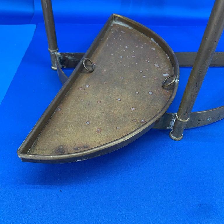 Italian Mid-Century Modern Brass Umbrella Stand For Sale 10