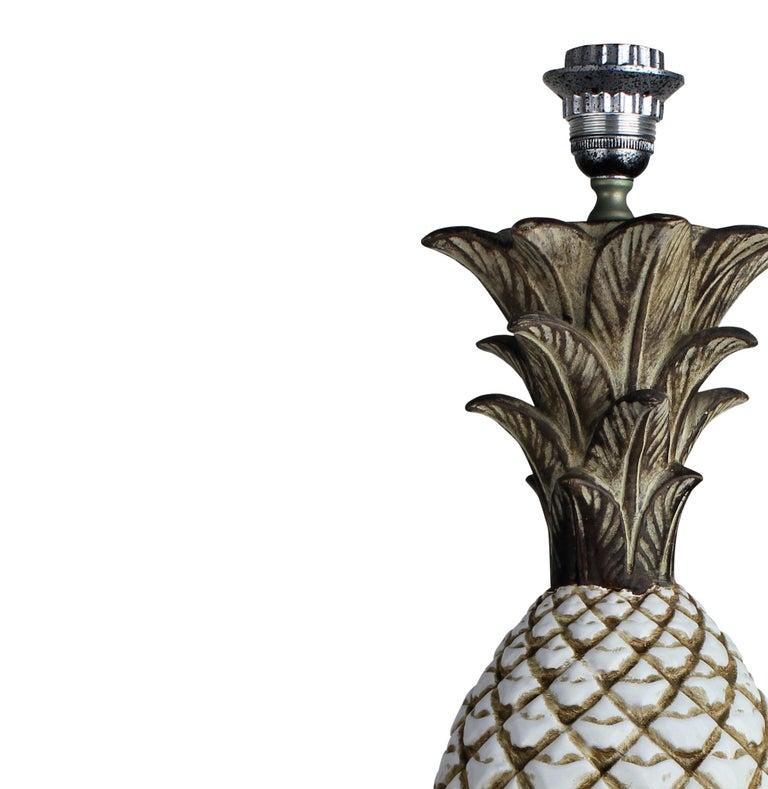 Mid-Century Modern Italian Midcentury Ceramic Pineapple Lamp