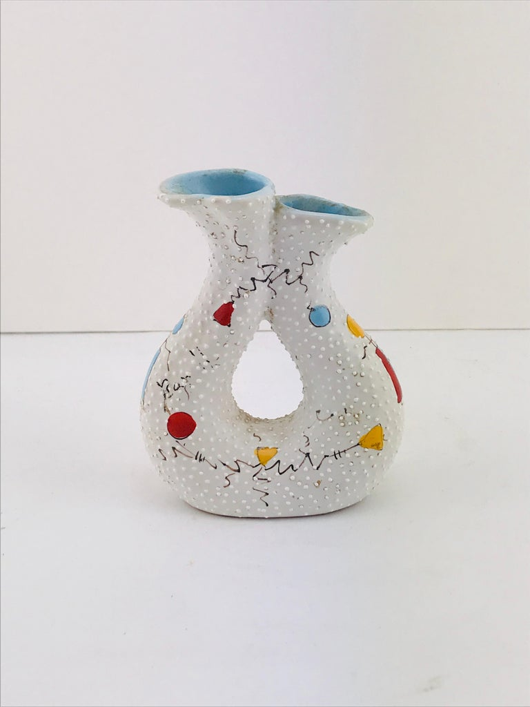 Beautiful vase by Gualdo Dolci also signed Rappallo a place in Italy famous for their beautiful ceramics in 1950s.