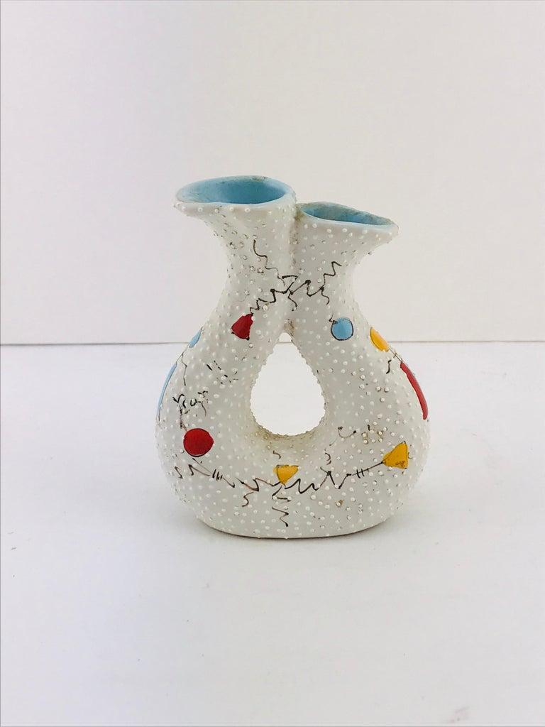 Mid-Century Modern Italian Midcentury Ceramic Vase by Gualdo Dolci, 1950s For Sale